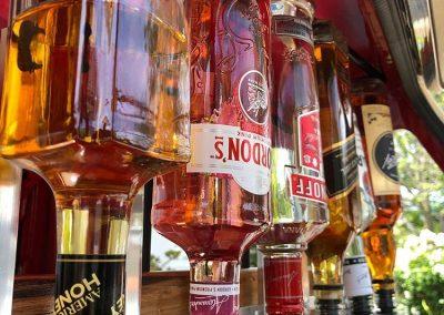 Pop Up Kombi bar gallery upside down vertical bottles