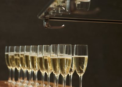 Pop Up Kombi Champagne Glasses On Table