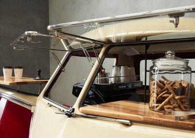 Pop Up Kombi Cookie Jar Close Look Inside White Branded Kombi Car