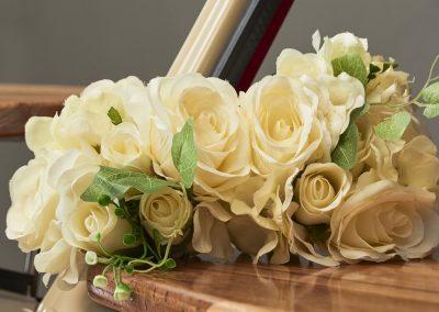 Pop Up Kombi Wedding Gallery Yellow Flowers Close Look