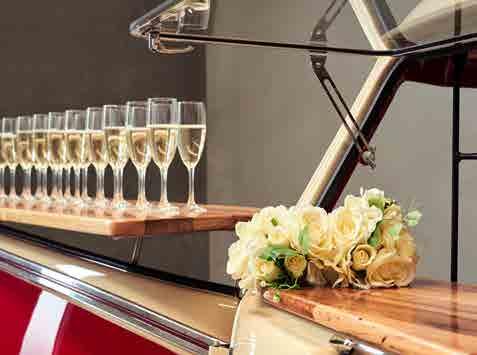 Pop Up Kombi Champagne Glasses